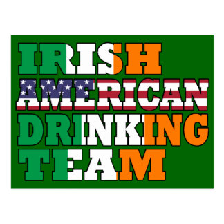 Irish American  drinking team Postcard