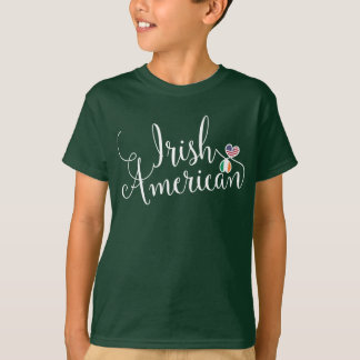Irish American Entwinted Hearts T-Shirt