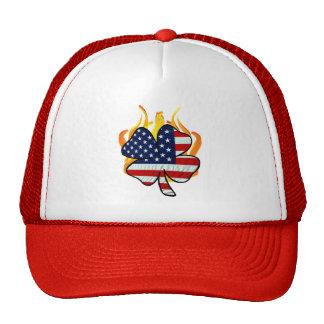 Irish American Firefighters Mesh Hats
