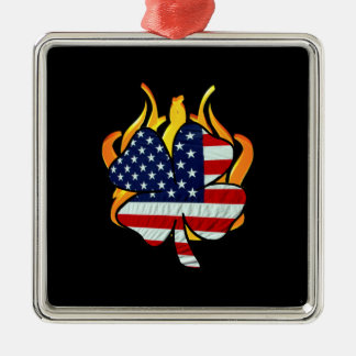 Irish American Firefighters Christmas Ornament