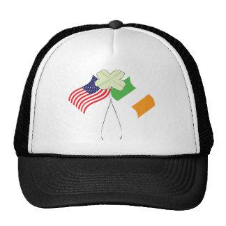 Irish American Flags Mesh Hat