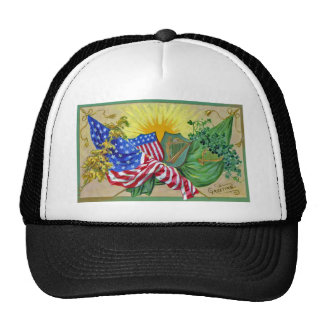 irish american flags mesh hats