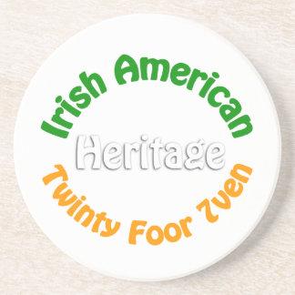 Irish American Heritage Beverage Coaster
