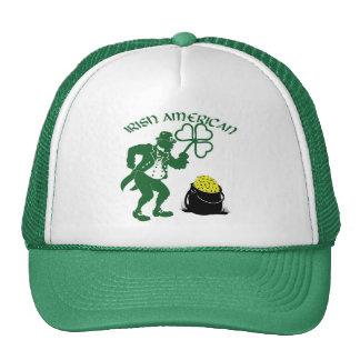 Irish American Leprechaun with Pot of Gold Mesh Hats