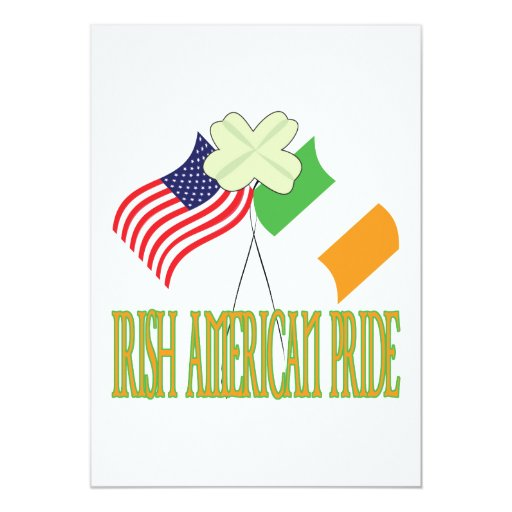 Irish American Pride 13 Cm X 18 Cm Invitation Card