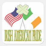 Irish American Pride Square Stickers