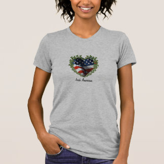 Irish American Shamrock Heart Cutout T-Shirt