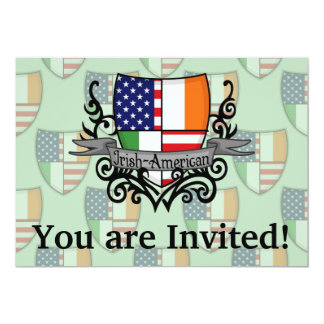 Irish-American Shield Flag 13 Cm X 18 Cm Invitation Card