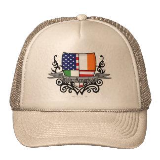 Irish-American Shield Flag Mesh Hats