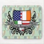 Irish-American Shield Flag Mouse Pad
