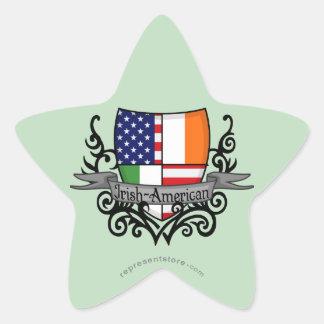 Irish-American Shield Flag Stickers