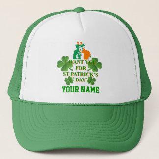 Irish American , St Patrick's day Trucker Hat