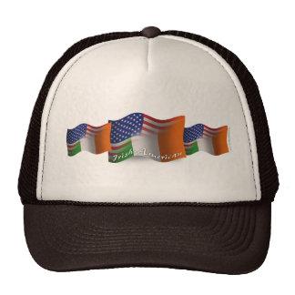 Irish-American Waving Flag Mesh Hats