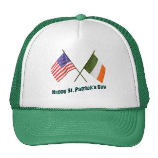 Irish and American Flags Cap