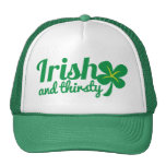 IRISH and THIRSTY St patricks day drinking product Cap