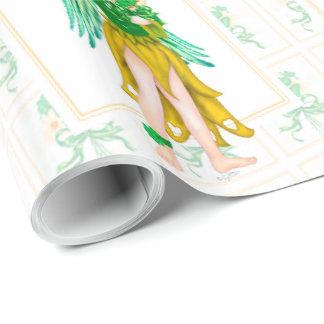 "IRISH ANGEL 30"" x 15'   CARTOON Wrapping Paper"