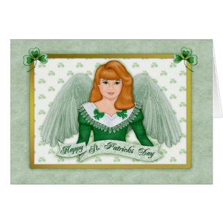 Irish Angel & Banner - Blank Inside Card