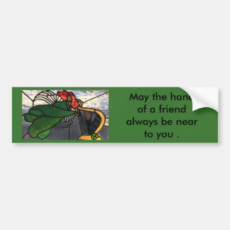 Irish Angel in Stained Glass Bumper Sticker