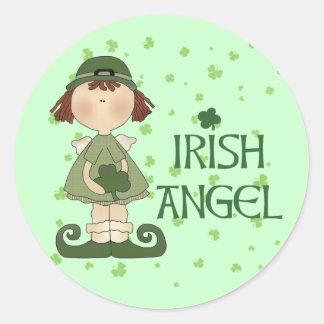Irish Angel Round Sticker