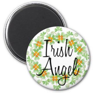 Irish Angel Shamrock Wreath Magnet