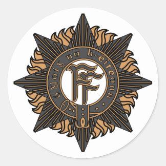 Irish Army Classic Round Sticker
