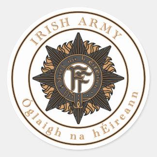 Irish Army Round Sticker