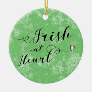 Irish at Heart, Christmas Tree Ornament, Ireland Christmas Ornament