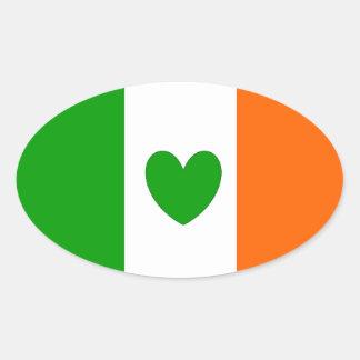 Irish at Heart Oval Sticker