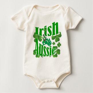 Irish Aussie St Patricks day Baby Bodysuit