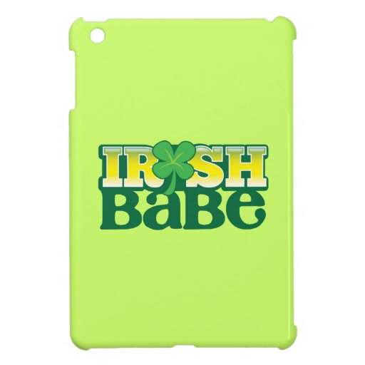 IRISH BABE! cute with a shamrock Cover For The iPad Mini