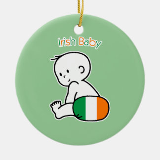 Irish Baby Christmas Ornament
