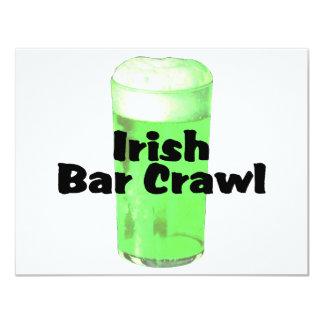 Irish Bar Crawl 11 Cm X 14 Cm Invitation Card