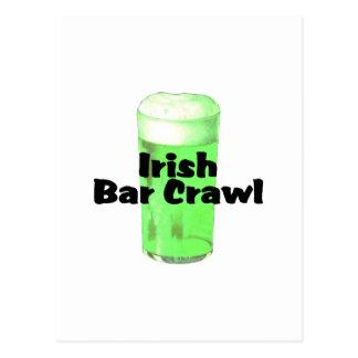 Irish Bar Crawl Postcard