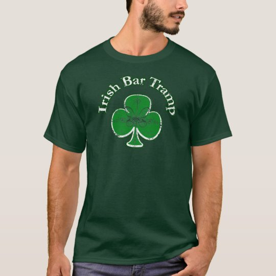 Irish Bar Tramp Funny T-shirt