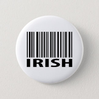 irish barcode 6 cm round badge