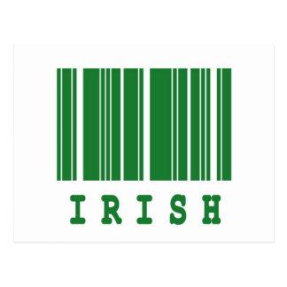 irish barcode design postcard