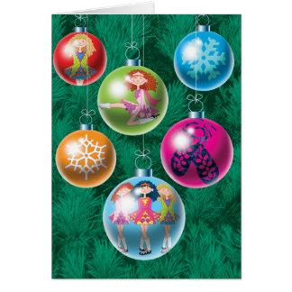 Irish Baubles Christmas Card
