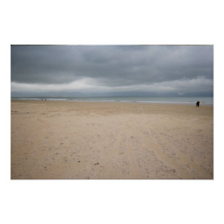 Irish Beach on a stormy day Poster