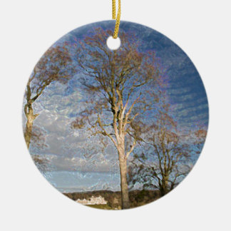 Irish Beech Trees Christmas Ornament