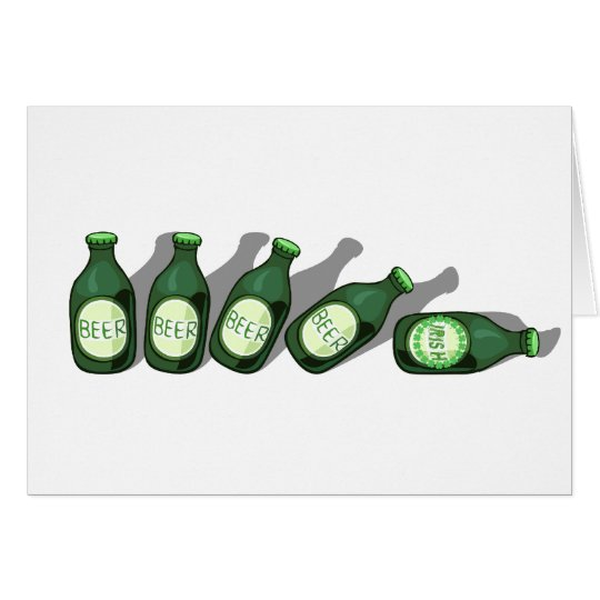 Irish Beer Drinkers shirts & gifts Card
