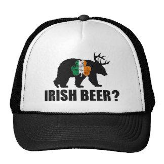 Irish Beer?  Ireland Flag Shamrock Bear Deer Hat