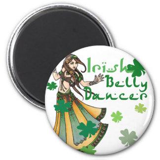 Irish Belly Dancer 6 Cm Round Magnet