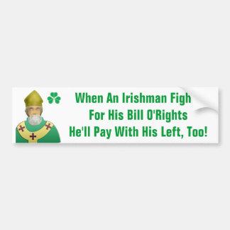 Irish Bill of Rights Car Bumper Sticker
