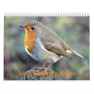 Irish birds calendar