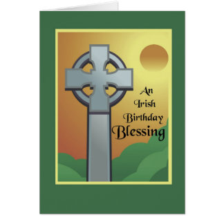 Irish Birthday Blessing Greeting Card