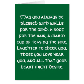 Irish Blessing 1 Note Card