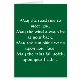 Irish Blessing 2 Note Card