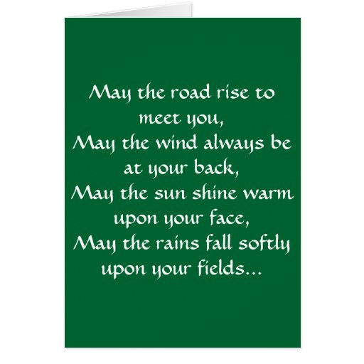 Irish Blessing 2 Stationery Note Card