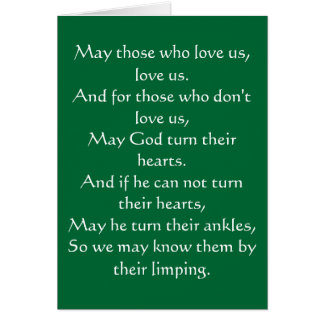 Irish Blessing 3 Note Card
