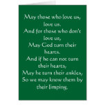 Irish Blessing 3 Stationery Note Card
